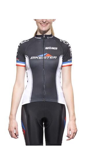 Bikester Bikester Pro Team Cykeltrøje korte ærmer Damer sort